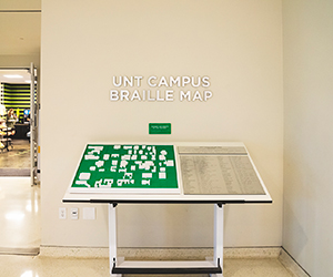 Braille map on display