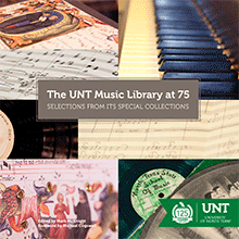 Book cover for The UNT Music Library at 75
