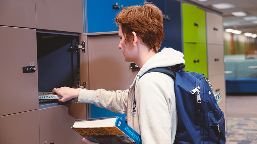 lockers in Willis Library