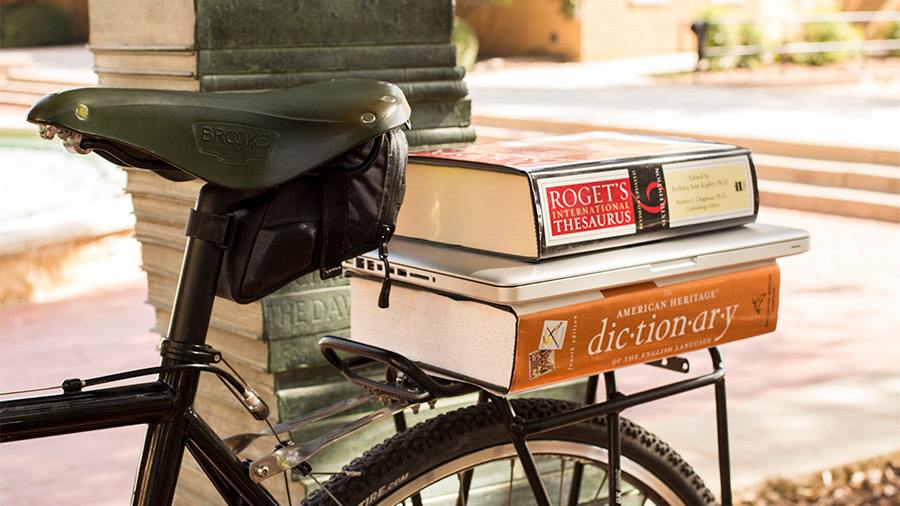 bicycle with books