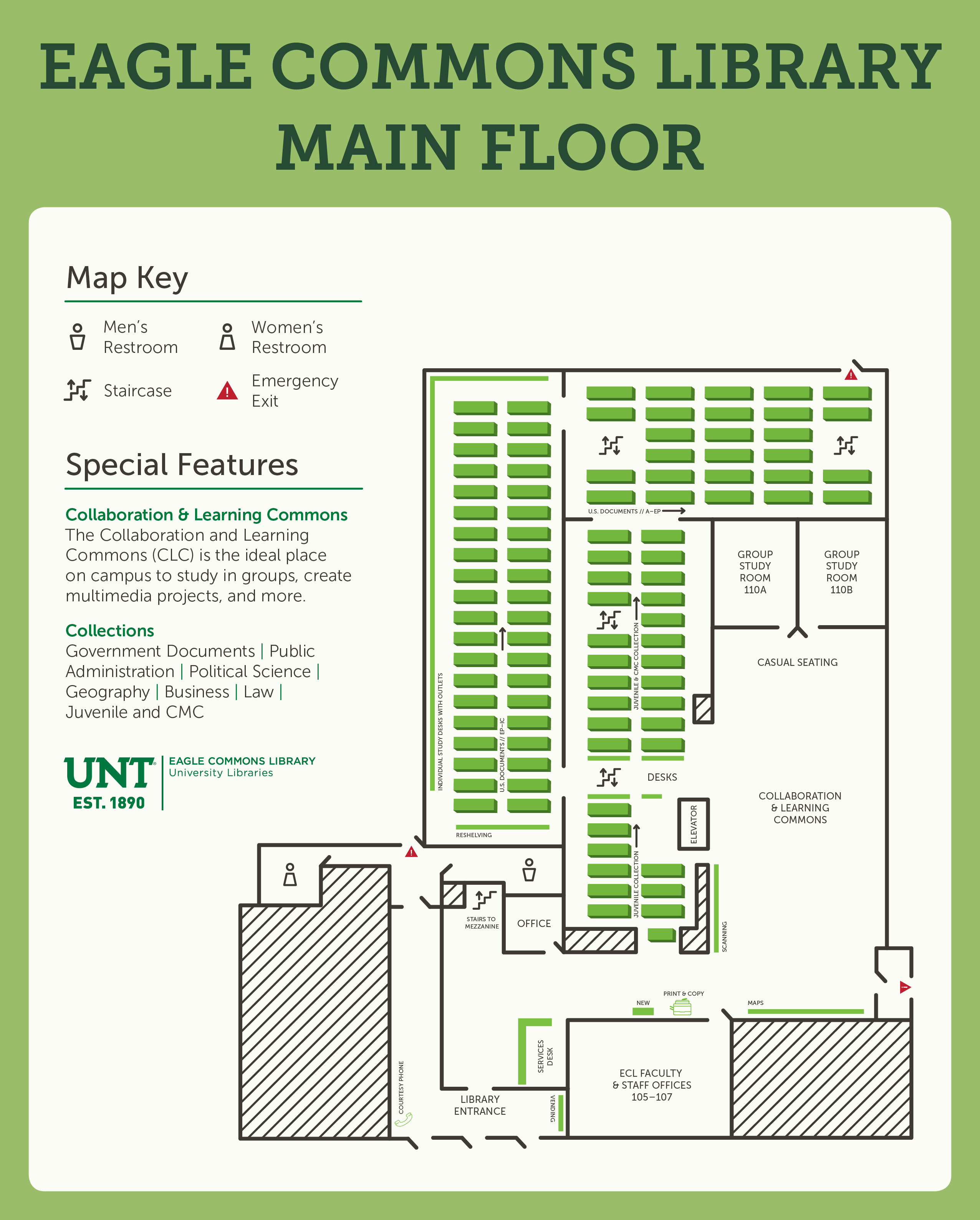 Eagle commons library main floor map