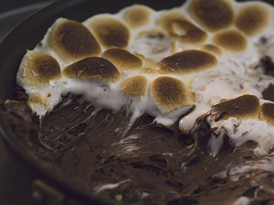 photograph of chocolate and marshmallows