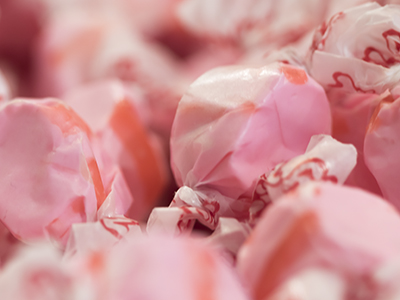pink wrapped taffy