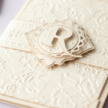die cut design on the fron of a journal