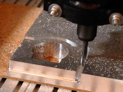 ShapeOko 2 CNC milling on metal