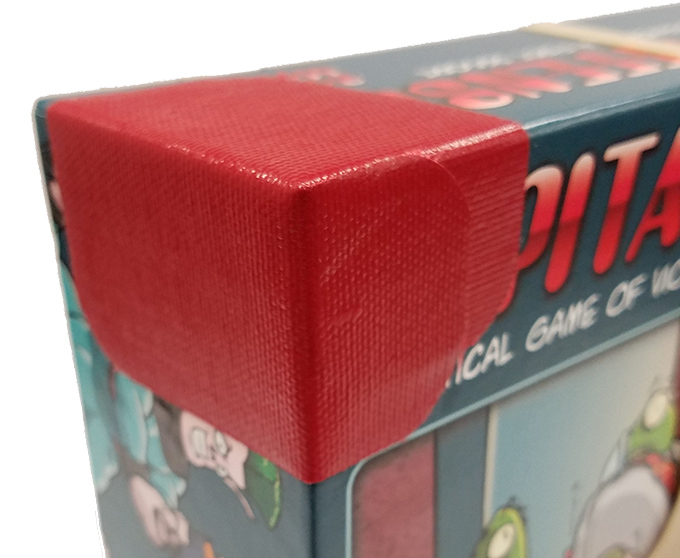 boardgame with corner reinforced