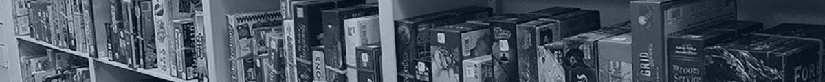 Shelf of tabletop games